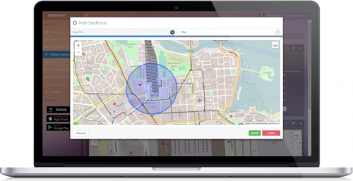 Adding a geofence on the web portal
