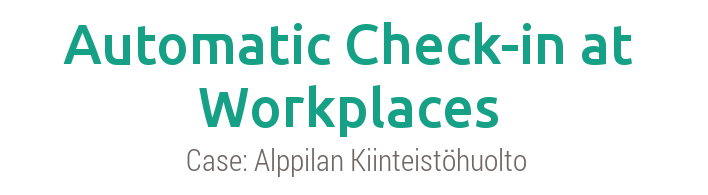 Automatic check-in at workplaces
