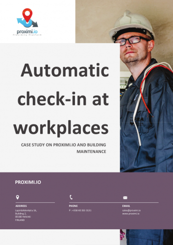 Case study: Automatic check-in at workplace